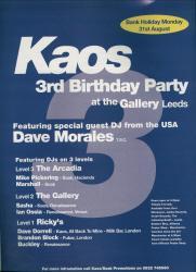 Kaos 3rd Birthday flyer