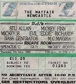 ticket for May 92