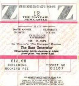 ticket for Jan 92